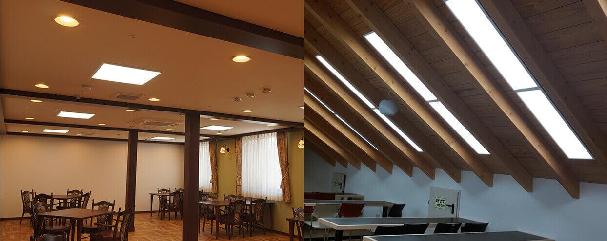 LEDベースライト設置例
