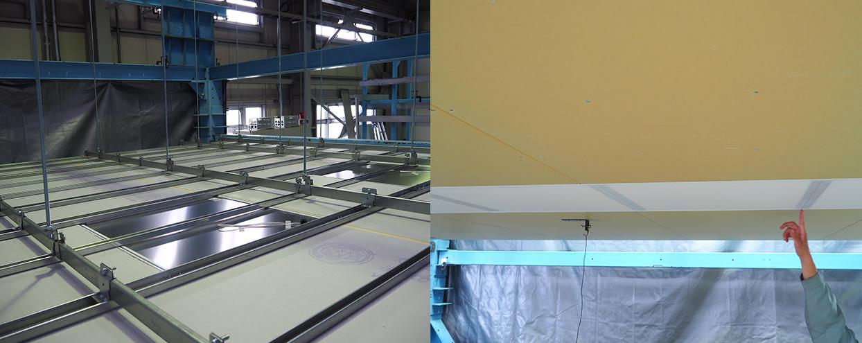 耐震天井用LED照明設置例